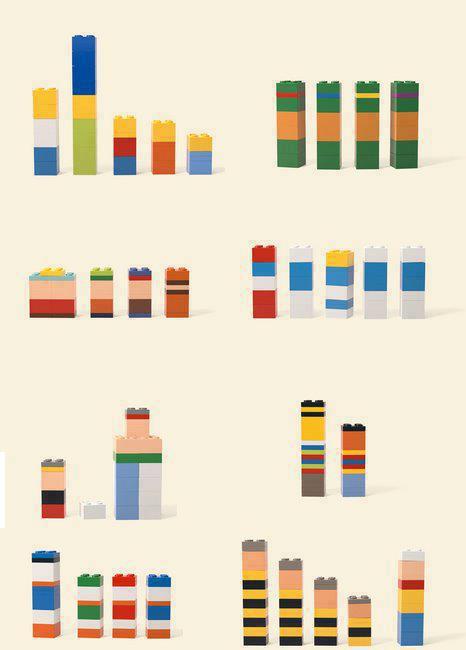 Zeichentrickfiguren aus Legosteinen