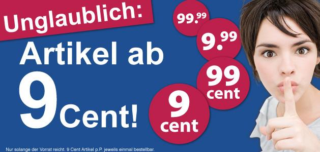 Schlecker: 9er Aktion - Artikel ab 9 Cent / 99 Cent / 9,99€ - MBW 15€
